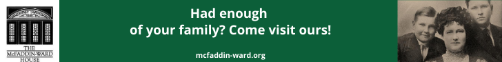Had enough of your family? Come visit ours! mcfaddin-ward.org