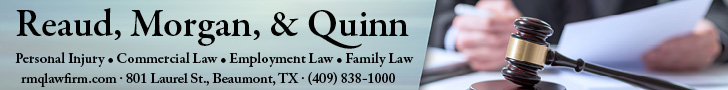 Read, Morgan, & Quinn. Personal injury, commercial law, employment law, family law. rmqlawfirm.com. 801 laurel st, beaumont, TX. 409838-1000