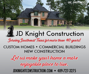 JD Knight Construction. Serving SETX for more than 40 years! Custom Homes, Commercial Buildings, and New construction. Less us make your home a more enjoyable place to live. 409-727-3275 Monday through Friday 8am-5pm, Saturdays 8am-12pm. jdknightconstruction.com