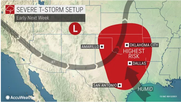Dallas, San Antonio and Oklahoma City to face 'nasty' severe weather