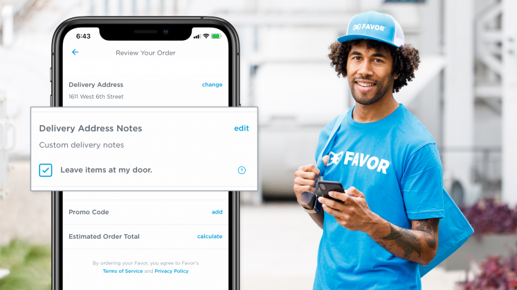 Favor offers doorstop deliveries.