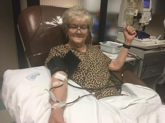 COVID-19 survivor Dee Stevens donating plasma to assist treating new patients admitted daily in Beaumont.