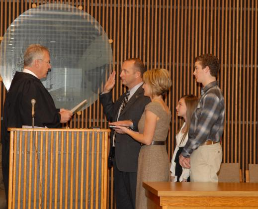 Brent Weaver is sworn in as county commissioner